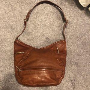 FORZIERI Large Italian Leather Hobo Bag